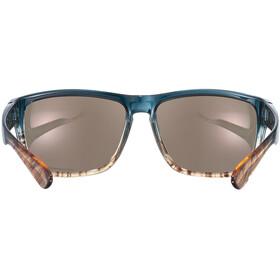 UVEX LGL 36 Colorivision Gafas, Azul petróleo/naranja